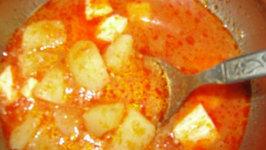 Navratra Aloo Paneer Curry