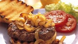Roquefort Hamburgers On Grilled Garlic Toasts