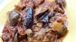 Caponata- Eggplant in a Sweet and Sour Sauce