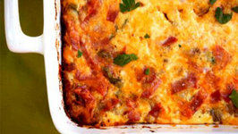 Baked Cottage Cheese In Red Sauce