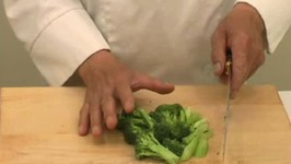 Cutting Broccoli for Chinese Cooking