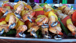 Shrimp En Brochette