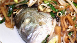 STEAMED FISH WITH TOGUE (bean sprout)