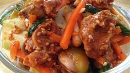 Korean Food Sea Snail (Whelk) Salad