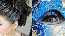Halloween Tutorial - Elegant Venetian Masquerade Hair and Makeup