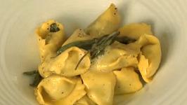 Plin Ravioli In Sage Butter Sauce