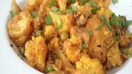 Basic Gobhi Matar (Cauliflower Peas Indian)