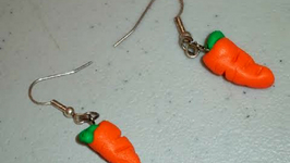 How To Make Polymer Clay Carrot Earring Charm Pendants