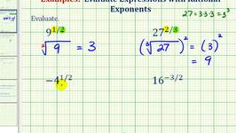 Ex:  Evaluate an Expression with Rational Exponents Using Radicals