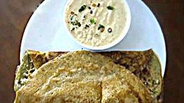 South Indian Breakfast  - Pesarattu Upma