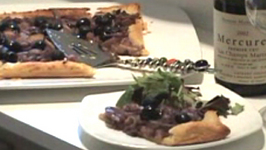 Red Onion and Black Olive Tart