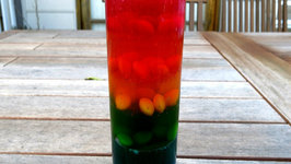 Rainbow Gummy Skittles In a Glass