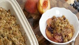 Kary Osmond Peach and Blueberry Crisp