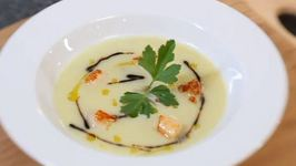 Tasty Vichyssoise Soup with Bay Scallops