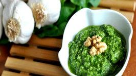 Vegan Pesto using Fresh Basil and Spinach