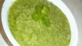 Green chutney- Apple and Cilantro Chutney