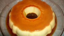 Orange Flan with Chocolate Grand Marnier Sauce