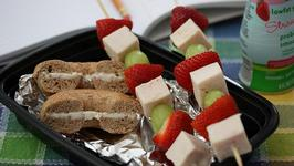 Lunchbox Fruit and Chicken Skewers