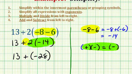 Ex:  Simplify an Expression With Integers Using the Order of Operations