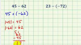 Ex 2:  Subtracting Integers (Two Digit Integers)