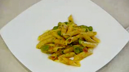 Italian Traditional Pasta with Broad Beans Sauce