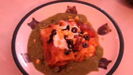 Sour Cream Chicken Enchiladas With Cilantro Pepper Sauce