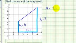 Ex: Area of a Trapezoid on the Coordinate Plane