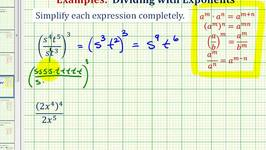 Ex 2:  Simplify Exponential Expressions - Positive Exponents Only