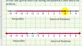 Intervals: Given the Graph of an Interval, State as an Inequality and Using Interval Notation