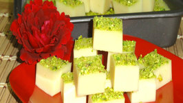 China Grass Burfi or Barfi - Milk Jello