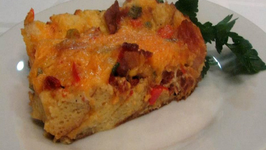 Bacon and Cheddar Strata -- Lynn's Easter Brunch