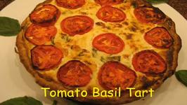 Italian Tomato Ricotta and Basil Tart
