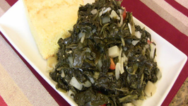 Holiday Series: Turnip Greens with Turnips and Ham Hocks