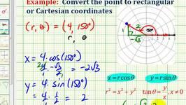 Example:  Convert a Point in Polar Coordinates to Rectangular Coordinates