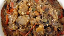 Caponata Alla Siciliana and Funghi Marinati