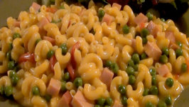 Mac and Cheese with Ham 'n Peas