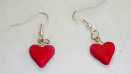 How To Make Polymer Clay Heart Shaped Earrings