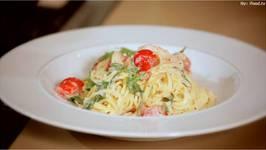 Creamy Garlic Italian Pasta  Mediterranean Made Easy  Schwartz Cooking Club