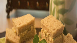 Cream and Curried Chicken Tea Sandwiches