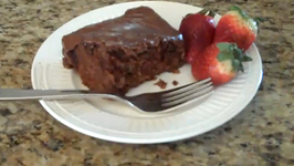 Coca Cola Cake with Cocoa and Nuts Frosting