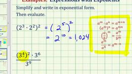 Ex 1:  Simplify Exponential Expressions - Positive Exponents Only