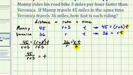 Ex 4:  Rational Equation Application - Two Bikers Riding Different Distances