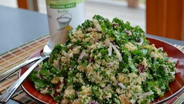 Quinoa-Kale Salad with Kefir-Cumin Dressing