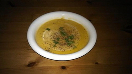 Cacao Dusted Butternut Squash Soup