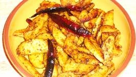 Spicy Stir Fried Arbi