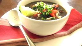 Cuban Black Bean Soup in the Crock-Pot