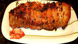 Sliced Pork Tenderloins With Sage And Currant Stuffing