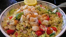 Greek Orzo Salad with Feta and Shrimp