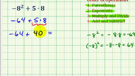 Ex 4:  Simplify Expressions Involving Integers Using the Order of Operations