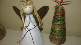 Angel Tree Topper Out of Recycled Materials Craft Tutorial